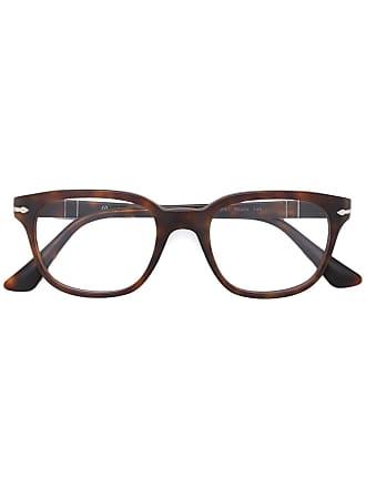 Persol Armação de óculos quadrada - 9001 Matte Havana