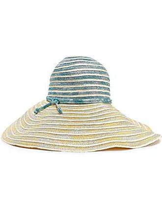 0d7125ab9c3d6a Missoni Missoni Woman Metallic Crochet-knit And Woven Straw Sunhat Pastel  Yellow Size