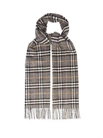 5ed59ada94d6f Burberry Vintage Check Cashmere Scarf - Mens - Grey