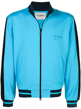 Iceberg stripe logo track jacket - Blue