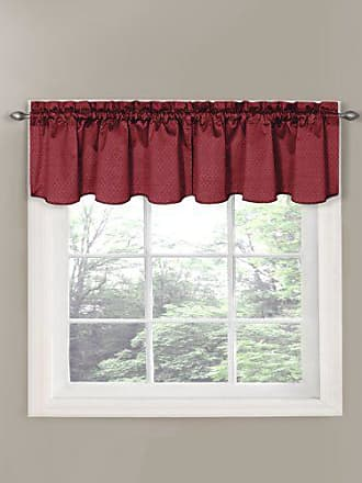 Eclipse 42 x 21 Short Valance Small Window Curtains Bathroom, Living Room, and Kitchens, 21-Inch, Burgundy