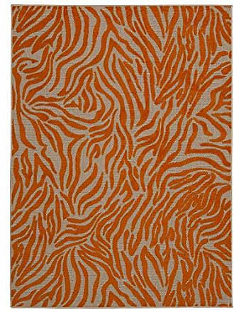 Nourison Rug Squared Kona Indoor/Outdoor Area Rug (KON04), 9-Feet 6-Inches by 13-Feet, Orange
