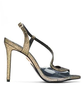 BO.BÔ Sandália salto alto metalizada - Dourado