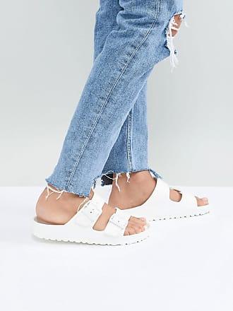 Birkenstock Arizona Eva - Witte platte sandalen