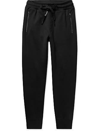 5979bfda Dolce & Gabbana Slim-fit Tapered Logo-embroidered Loopback Cotton-jersey  Sweatpants -