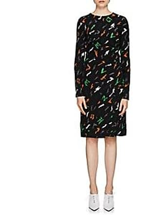 278efcda89 Givenchy Womens Flying-Paper-Print Silk Dress - Black Size 34 FR