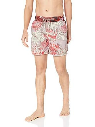 4772cc1488133 Maaji Mens Printed Elastic Waist Mid Length Swimsuit Trunks 6 Inseam,  Coastline red Palm,