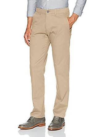 Haggar Mens Coastal Comfort Straight Fit Superflex Waist Flat Front Pant, Khaki, 34Wx32L