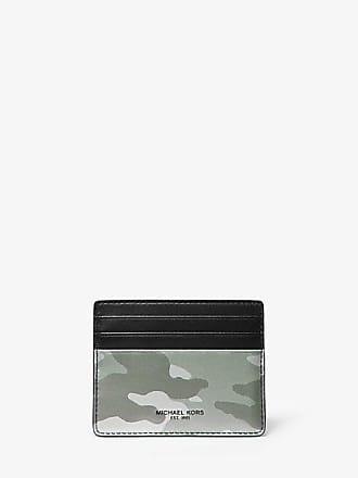 Michael Kors Mens Kent Camo Metallic Leather Card Case