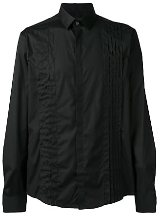 Les Hommes pleated chest formal shirt - Preto