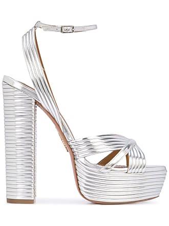 Aquazzura Sundance Plateau 140 sandals - Silver