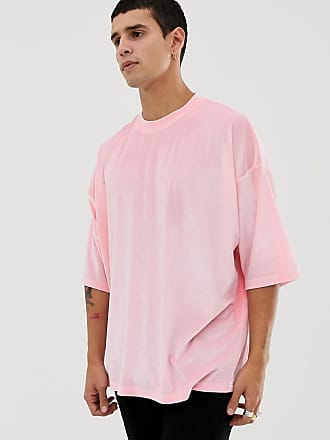 5400c17996 Asos Camiseta extragrande de velour rosa y media manga de ASOS DESIGN