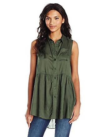 French Connection Womens Summer Slub, Woodland Green, 6
