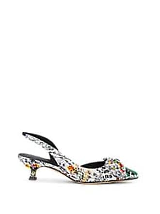 9c6b12a04 Salvatore Ferragamo Womens Bow-Embellished Floral Slingback Pumps Size 7.5