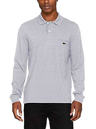 d13d9900fc4b4 Lacoste PH0118 Polo, Argent Chiné/Blanc-Marine Ws8, Medium (Taille Fabricant