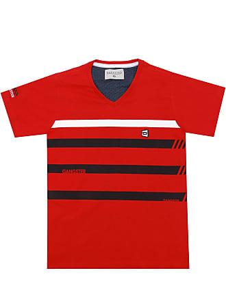 Gangster Camiseta Gangster Menino Listrada Vermelha