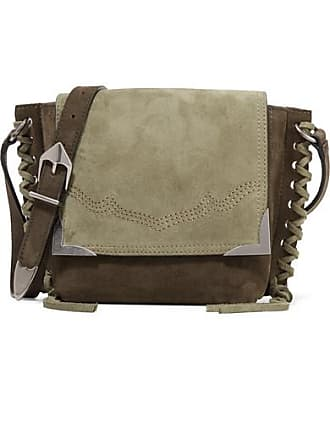ab8d7c0a708f Isabel Marant Kleny Whipstitched Two-tone Suede Shoulder Bag - Green