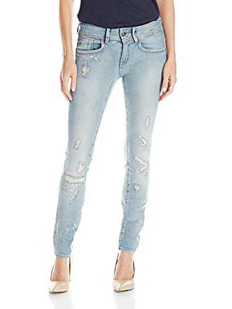 10574ab06e5 G-Star Womens Lynn Mid Rise Skinny Fit Jean in Notto Stretch, Light Aged