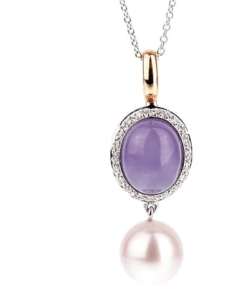 MIMI MILANO Lavender Jade Pearl Diamond Necklace