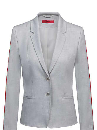7ac0a3ad HUGO BOSS Regular-fit jacket with contrast sleeve tape