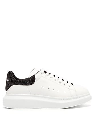 Alexander McQueen Alexander Mcqueen - Raised Sole Low Top Leather Trainers - Mens - White Multi
