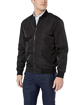 Kenneth Cole Mens Bomber Jacket, Black Small