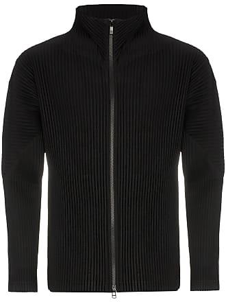 Homme Plissé Issey Miyake pleated crepe zip up jacket - Black