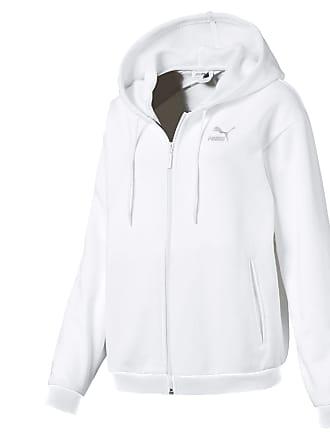Puma Hoodie 't7' Smaragd Weiß Damen Bekleidung Hoodies