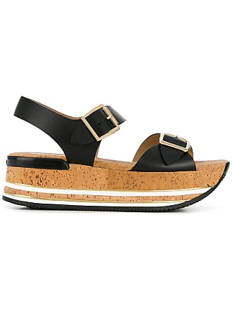 ae873db8410 Hogan platform buckle sandals - Black