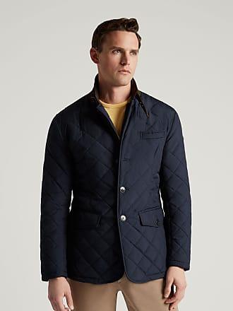 Hackett Mens Quilted Blazer | Large | Navy