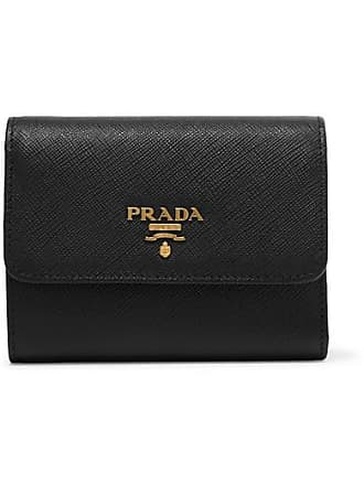 84b490ec461cd Prada Portemonnaie Aus Strukturiertem Leder - Schwarz