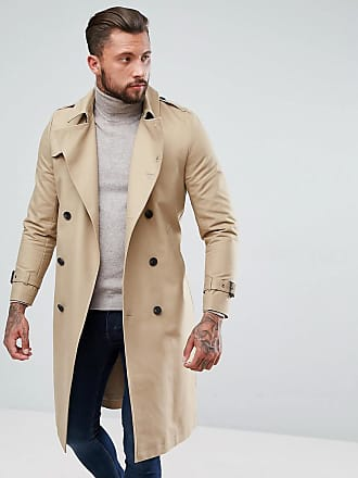 2b515fdddf9a Asos Trench-coat imperméable coupe longue avec ceinture - Taupe - Taupe