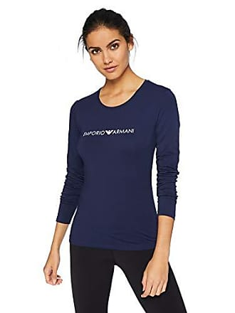 ae6527cf17f84 Emporio Armani Womens Iconic Logoband Crew Neck Long Sleeve T-Shirt
