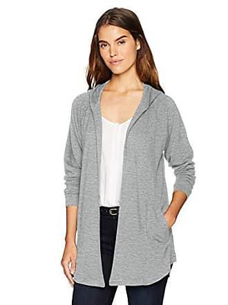 Kensie Womens Drapey Fleece Jacket, Heather Grey, S