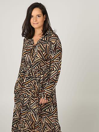 e5b308d237da09 Paprika ab Größe 42 :Langes Hemdkleid mit geometrischem Aufdruck