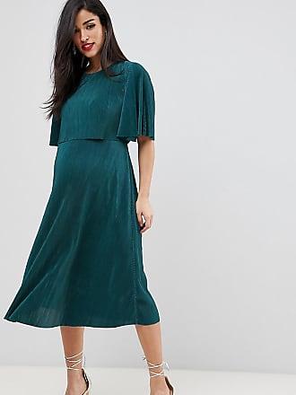 1672bbe366ee74 Asos Maternity ASOS DESIGN Maternity Nursing Crop Top Plisse Midi Dress
