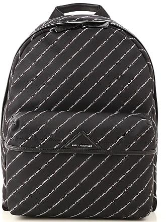 Karl Lagerfeld Backpack for Men, Black, Nylon, 2017, one size