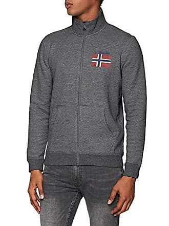 d2d9e673f840 Napapijri N0YHWK - Sweat-shirt zippé- Homme - Gris (Dark Grey Mel 197
