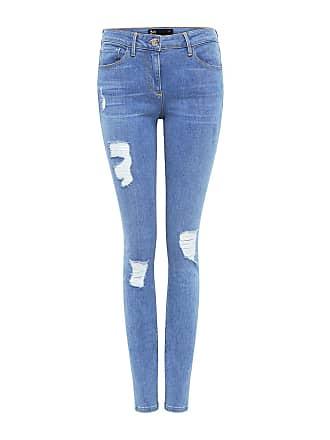 3x1 Mid Rise Distressed Skinny Jeans Paros