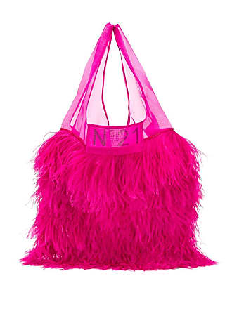 N°21 classic shopper with feathers - Pink