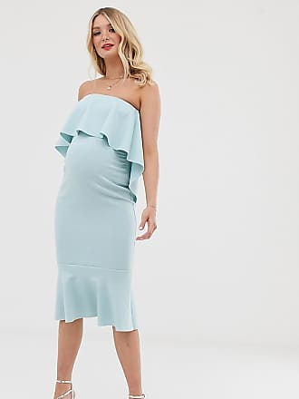 820bbbe30ad5 Asos Maternity ASOS DESIGN Maternity bandeau crop top midi pencil dress