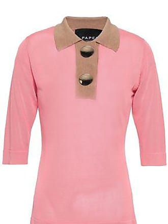 fb1b36406caa4 Paper London Paper London Woman Utah Button-embellished Stretch-knit  Sweater Baby Pink Size