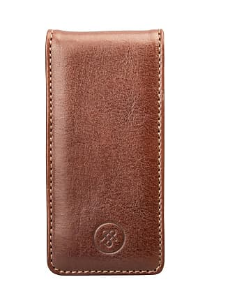 Maxwell Scott Maxwell Scott - Luxury Tan Leather iPhone 5 Flip Case (Renato)