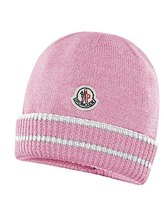 e6e494982f2 Moncler Kids Virgin Wool Striped-Cuff Beanie Hat
