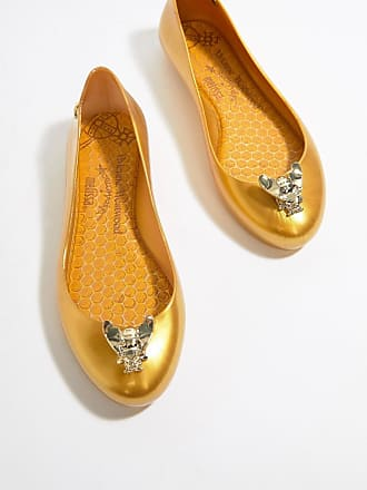 Vivienne Westwood Vivienne Westwood Space Love Flat Ballerinas - Gold
