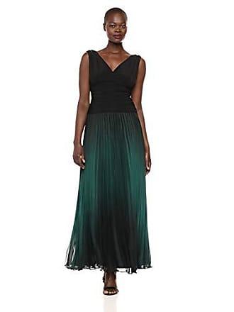 S.L. Fashions Womens Maxi Chiffon Print Skirt, Black/Green, 16