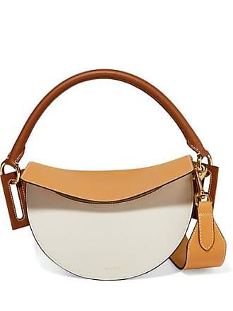 Yuzefi Dip Color-block Textured-leather Shoulder Bag - Cream