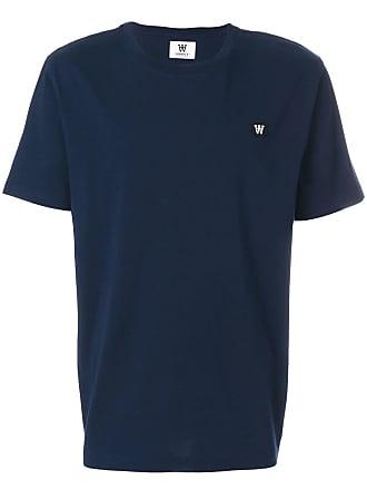 Wood Wood Camiseta com patch de logo - Azul