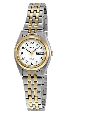Seiko SUT116 Womens Silver & Gold Core Solar Watch