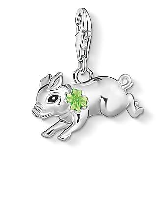 Thomas Sabo Thomas Sabo Charm pendant Little pig with cloverleaf silver-coloured 1561-007-21